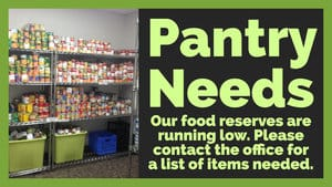 Comfort Cafe Donation Request to Fill the Pantry